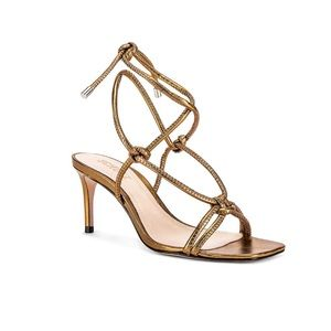 Schutz Belize Stiletto Sandal Metallic Bronze 7